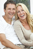 Happy Middle Aged Man and Woman Couple Laughing — Stock Photo