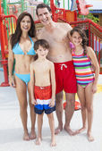 Mother Father Son Daughter Child Family Water Park — Stock Photo