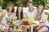 Parents Children Family Healthy Eating Outside — Stock Photo