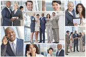 Montage of Modern Business Teams and — Stock Photo