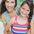 Mother Daughter Woman Girl Child Family Water Park — Stock Photo
