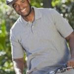 African American Man Riding Bike — Stock Photo #21712299