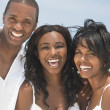 Happy African American Family On Beach — Foto Stock