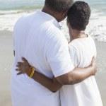 Senior African American Couple on Beach — Stock Photo #21713909