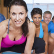 Interracial Group of Middle Aged Practicing Yoga — Stock Photo #21713945