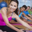 Stock Photo: Interracial Group of Middle Aged Practicing Yoga