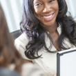 African American Businesswoman Using Tablet Computer — Stock Photo #21718073