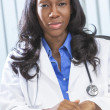 African AMerican Female Woman Doctor - Stock Photo