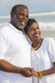Happy Senior African American Couple on Beach — Stock Photo