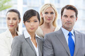 Interracial Men & Women Business Team — Stock Photo