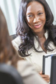 African American Woman or Businesswoman in Meeting — Stock Photo