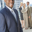 African American Businessman & Business Team — Stock Photo