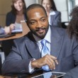 African American Businessman in Meeting — Stock Photo #21727979