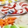 Tomato Mozzarella Salad Healthy Dips Vegetables - Stock Photo