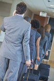 Businessmen Businesswomen Airport Traveling — Stock Photo