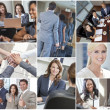 Men, Women, Businessmen & Businesswomen Team — Foto de Stock