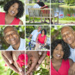 Happy Senior African American Couple Outside — Stock Photo