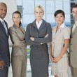 Interracial Men & Women Business Team - Stock Photo