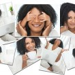 Beautiful African American Woman Montage — Stock Photo
