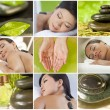 Montage of Beautiful Women Relaxing At Spa — Stock Photo