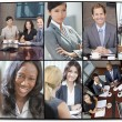 Interracial Men & Women Businessmen & Businesswomen — Stock Photo