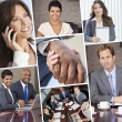 Montage of Businessmen and Women — Foto de Stock