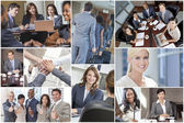 Men, Women, Businessmen & Businesswomen Team — Stock Photo