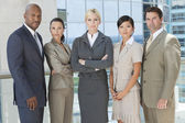 Interracial Men & Women Business Team — Stockfoto
