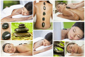 Montage of Luxury Ethnic Female Spa Lifestyle — Stock Photo