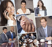 Montage of Businessmen and Women — Stock Photo