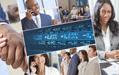 Montage of Successful Businessmen and Women — Stock Photo