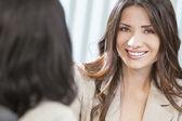 Two Women or Businesswomen in Office Meeting — Stock Photo
