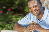 Happy African American Man Smiling — Stock Photo