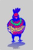 Easter bird — Stock Vector
