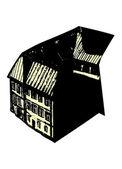 Black house — Stock Vector