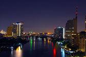 Bangkok river view at night. — Stock Photo