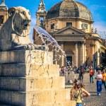 Piazza del Popolo. Roma. Italy. — Stock Photo #21827395