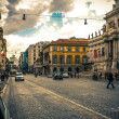 ViCavour. On streets of Rome in summer. Italy. — Stock Photo #21827507