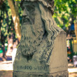Leonardo dVinci. Tuileries garden. Roma. Italy. — Stock Photo #21827953