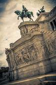 Statue of Victor Emmanuel II. Piazza Venezia. Capitol Hill. Alta — Stock Photo