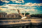 Ponte sant angelo. roma. italie. — Photo