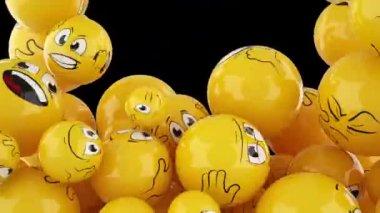 Lächelnd kugeln herunterfallen — Stockvideo