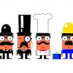 Cartoon characters set — Stock Vector #21891917