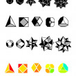 Set of geometric shapes - Stock Vector