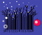 Winter Forest-Barcode — Stock Vector