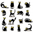 Royalty-Free Stock Vector Image: Set of black cats
