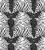 Seamless zebra skin pattern — Stock Vector