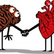 Royalty-Free Stock : Brain and heart