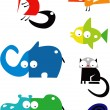 Set of funny animals — Stock Vector #25306871
