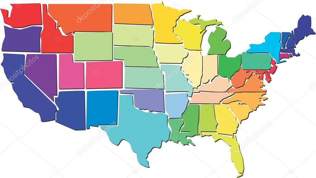 美国地图 ― 图库矢量图像08